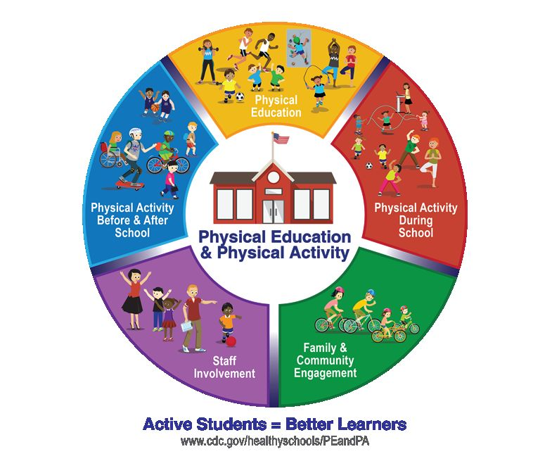 Graphic about Comprehensive School Physical Activity Program (CSPAP)